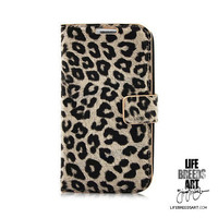 Leopard Leather Flip Case, Samsung Galaxy S3 i9300 | LIFE BREEDS ART