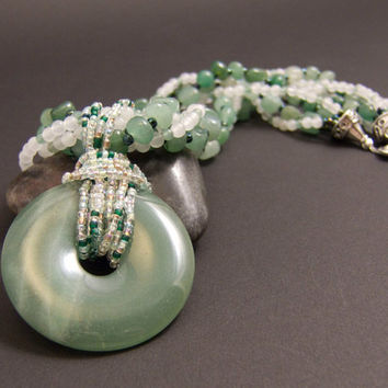 Green Aventurine Necklace for the Heart Chakra by AnandaBijoux