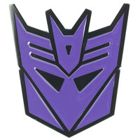 Transformers Men's Decepticon Belt Buckle Purple