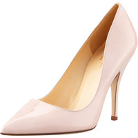 kate spade new york licorice patent pointed-toe pump, pale pink