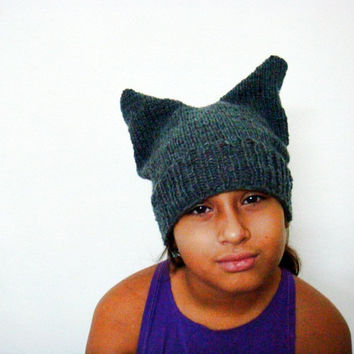 PDF Knitting Pattern Ear Hat Beanie, 252