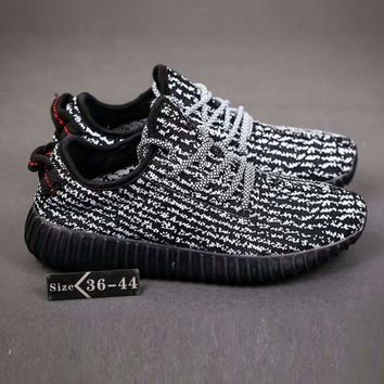 Adidas Yeezy Boost Trending Men Women Leisure Running Sports Shoes Sneakers Dark Grey Black Sole I-SSRS-CJZX