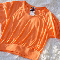 So Sweet Crop Top: Tangerine