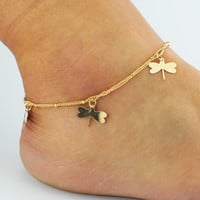 Cute Gift Stylish Jewelry Shiny Ladies Sexy New Arrival Hot Sale Summer Pendant Double-layered Anklet [6464854593]