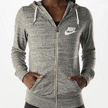 CREY9N Nike Casual Hooded Zip Knitwear Cardigan Sweatshirt Jacket Coat