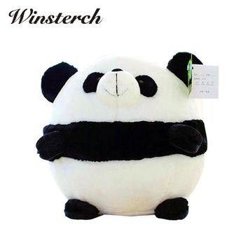Fat Pet Fluffy Plush Panda Doll Toys Pembroke Pillow Plush Stuffed Animal Chinese Panda Dolls Kids Birthday Best Gifts WW356