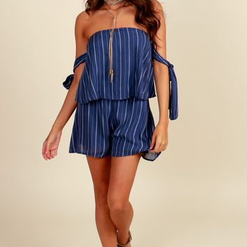 Make A Wish Romper Denim