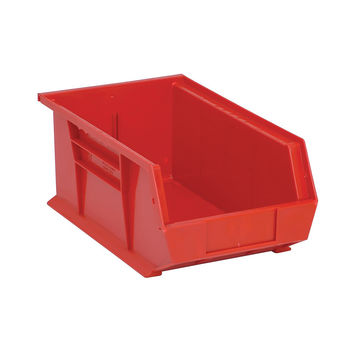 Quantum Storage Systems Ultra Stack And Hang Bin 13-5/8Lx 8-1/4Wx 6H - Red Pack Of 12