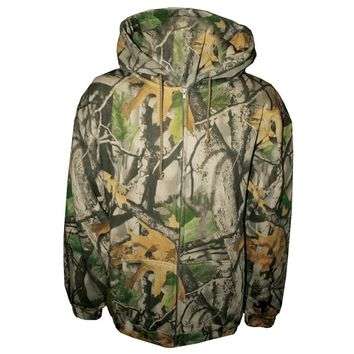 Camo Full Zip Pullover Hooded