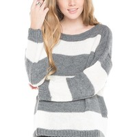 Brandy ♥ Melville |  Sage Striped Sweater - Just In