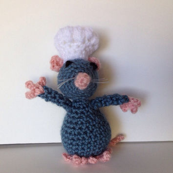 Crochet Remy Little Chef Ratatouille Amigurumi
