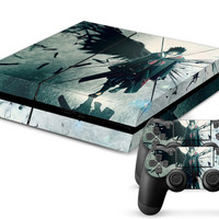 NARUTO Uchiha Sasuke Ps4 Decal Skin  Console and 2 Pcs For PS4 Controller