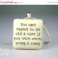 ON SALE: scrabble tile pendant,jewelry pendant,quotes resin pendants,art glass pendant,phrase photo charm- P0907SI