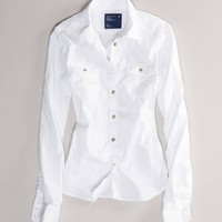 AE Chambray Workwear Shirt | American Eagle Outfitters