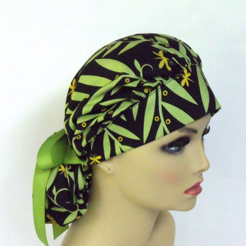 Bouffant  Surgical Scrub Hat or Ca[  Cotton by Jane Sassaman Willow Wands