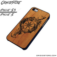 Compass Wood Case For Iphone 5/5S Case
