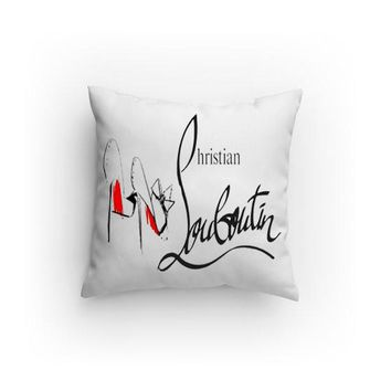 Red Bottom Stiletto Design Decorative Pillow