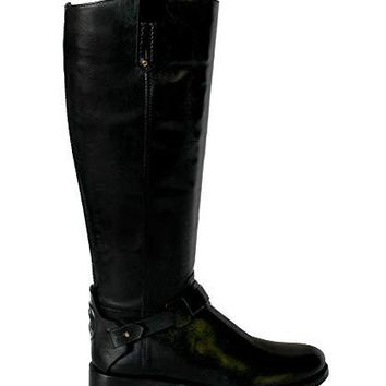 Tory Burch Women's Colton Riding Boot 50912 Leather Shoes
