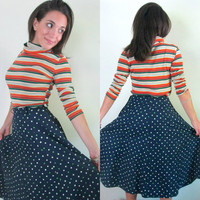 1950s Polka Dot Swing Circle Skirt // Lampl Fashion