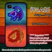 Twin lion king with aztec Case For Iphone 44s 5 Samsung S2S3S4 by pfcases12 on Zibbet