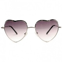 Heart Sunglasses - Silver | GYPSY WARRIOR