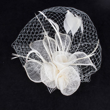 Attractive multiple color  sinamay fascinator headpiece  church  hair accessory wedding veils  suit for all seasons  TMYQ070