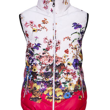 2016 New women witner vest colete feminino winter women casual floral jacket vest outerwear coat vest