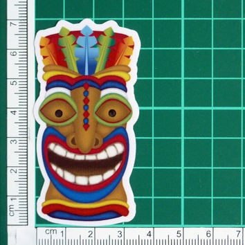 Colorful Totem Face Sticker Decal Totem Pole