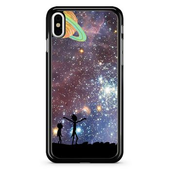 Rick And Morty Galaxy P iPhone X Case