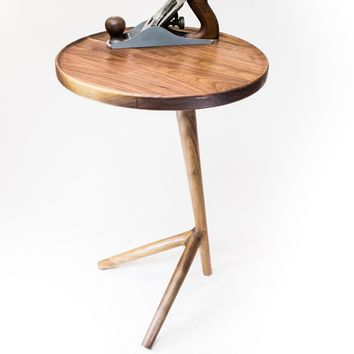 Tripod End Table - Walnut - Free Shipping!