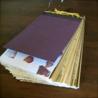 Dark Purple Scrap Blank Book Journal - decorative pages accents handprinted papers, images quotes sketch book