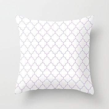 Lavender Pillow - Velveteen Pillow - Quatrefoil - Girls Pillow - Teen Pillow - Girls Room Decor - Teen Room Decor - Dorm Decor - Cushion
