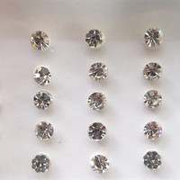 Tomorrowland Bindis/Single Rhinestones Bindis In One Pack/Indian India Bindis/Silver bindis/Fake Tragus Nose Stud/ Bindi Jewels/ Bindi Dots