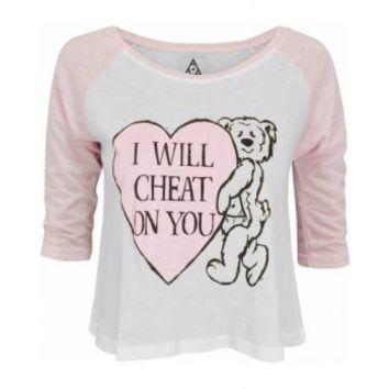 UNIF | UNIF I Will Cheat On You Cropped Baseball T-shirt at Spoiled Brat