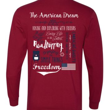 'American Dream Adventure Definition' Long Sleeve Tee