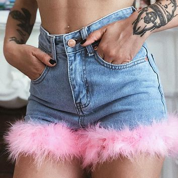 Fashion hot selling denim shorts patchwork super short sexy hot pants women's street jeans