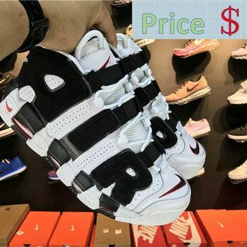 Latest and Cheapest Nike Air More Uptempo Scottie Pippen PE 414962-006 White Black-Varsity Red shoe