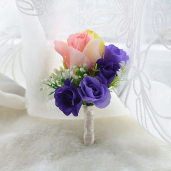Grooms Boutonniere Artificial Flower