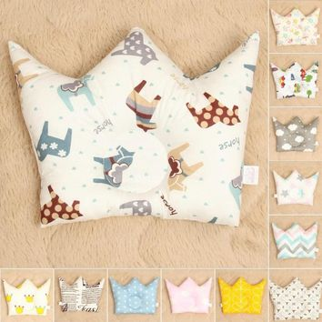 0-24 Month Baby Shaping Pillow Prevent Flat Head Infants Crown Dot Bedding Pillows Newborn Boy Girl Room Decoration Accessories