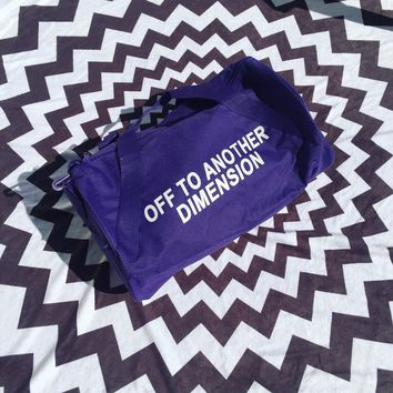 Off To Another Dimension Duffel Bag- Purple