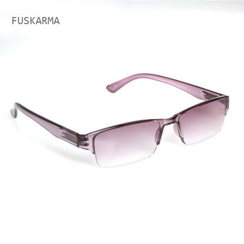 2016 Newest Ultra-light Rimless Plastic Reading Glasses For Men Women One-piece Presbyopic Glasses Outdoor Sunglasses For Older