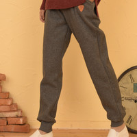 Loose Pants Capris Elastic Waist Solid Pocket All Match Small Fresh Sweet Casual Fashion Style