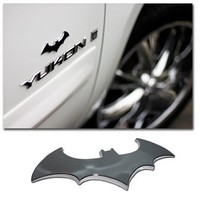 Batman (3D Bat) Chrome Auto Emblem