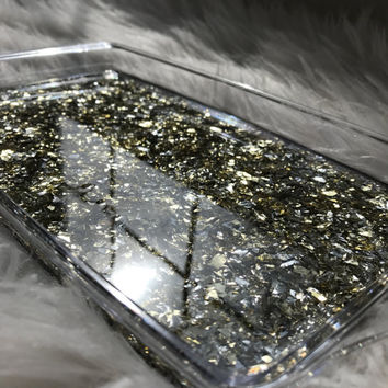 Gold Flake Rolling Tray | Vanity Tray | Marijuana Accessories | Stoner gifts