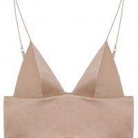 Boutique 1 - T BY ALEXANDER WANG - Pink Silk Satin Bralette | Boutique1.com