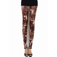 Personalised Slim Lightning Printed Leggings For Women