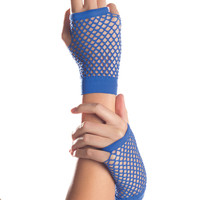 Wrist Length Fishnet Gloves