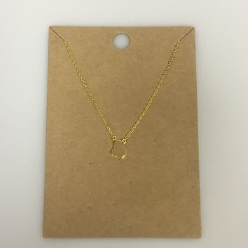 Dainty Georgia State Necklace