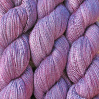 ON SALE: Lace Yarn ANNE Silk Baby Alpaca Wool super soft Heirloom Quality, light fingering weight - 2ply, hand dyed by Art by Eve, Blueberry