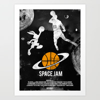 Redone Space Jam Movie Poster Art Print by Rodneymanabat